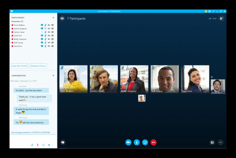 Конференция в предварительной версии Skype