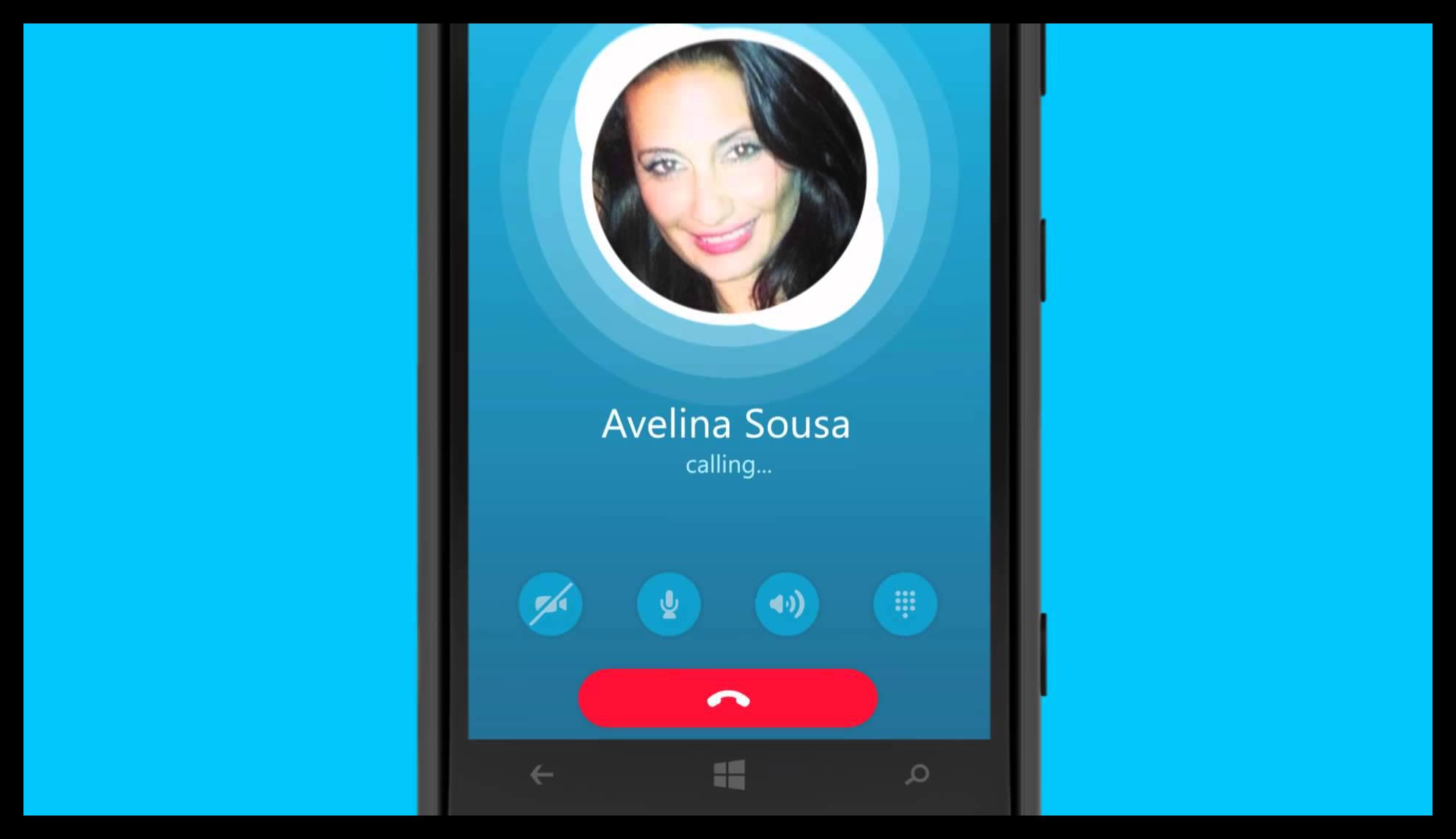 Крупная картинка Skype на Windows Phone