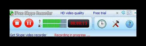 Запись разговора в iFree Skype Recorder